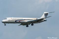 [LBG] Tchad Government McDonnell Douglas MD87 _ TT-ABC (thibou1) Tags: thierrybourgain lbg lfpb lebourget spotting aircraft airplane nikon d810 tamron sigma tchadgovernment ttabc md87 mcdonnelldouglas landing