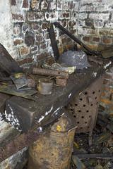 Work bench (AnotherStepAway) Tags: underground exploring exploration ue urban urbex abandoned forgotten industry lightning industrial ore lightpainting darkness dark below adventure flashlight