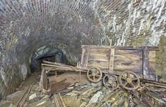 Cart crash! (AnotherStepAway) Tags: underground exploring exploration ue urban urbex abandoned forgotten industry lightning industrial ore lightpainting darkness dark below adventure flashlight