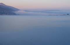 Cerknica Lake (happy.apple) Tags: cerkniškojezero cerknicalake slovenia slovenija winter zima ice led fog megla morning dawn zora landscape intermittentlake