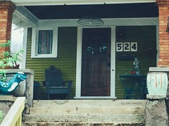 The 524 Mystery (Ellery Images) Tags: elleryimages home porch statue mystery stairs street structure house