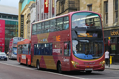 NK12 GCO, Newgate Street, Newcastle, September 5th 2016 (Southsea_Matt) Tags: nk12gco 6043 routex10 wright eclipse gemini volvo b5lh goaheadnortheast september 2016 autumn canon 60d sigma 1850mm bus omnibus vehicle transport unitedkingdom tynewear england newcastle newgatestreet tyneteesexpress