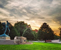 good night, DC (ekelly80) Tags: dc washingtondc april2019 spring sheridancircle embassyrow sunset evening light colors sky statue massachusettsavenue glow goldenhour