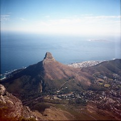 Lion's Head (Myahcat) Tags: 120 film mediumformat diana dianaf lomography lomo autumn southafrica westerncape tablemountain analogue