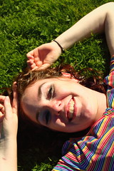 Beautiful and High 9 (Abbie Stoner) Tags: girl woman kite portrait redhead park outside