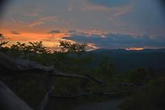 Cataloochee Valley Sunset_II (NC Mountain Man) Tags: cataloocheevalley nikon d3400 phixe ncmountainman sunset fence valley trees sky clouds path lowresolutionversion
