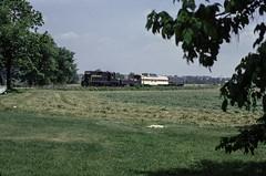 Glade Road (jameshouse473) Tags: mmid marylandmidland mmid793 marylandmidland793 emd gp9 walkersville woodsboro frederickcounty maryland md summer 1986 passengertrain train railroad railway