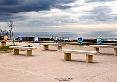 lungomare Latina 3 (ninomele) Tags: lungomare mare sea clouds nuvole beach colors canon italy latina lazio