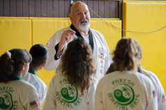 Master Scott Merril leads a class (TheBurgners) Tags: tournament wtsda sanfrancisco missionhigh paresh tang soo do