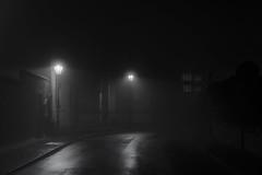 Chapel Lane (jactoll) Tags: stratfordonavon warwickshire darkstreets dark street fog foggy sinister eerie mood mono sony a7iii jactoll