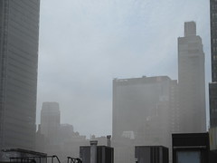 2019 Sunday Morning Hazy Smoke from Fire in Times Square 8801 (Brechtbug) Tags: 2019 sunday morning hazy smoke from fire times square virtual clock tower turned off hells kitchen clinton near broadway nyc 05192019 new york city midtown manhattan spring springtime weather building dark low hanging cumulonimbus cumulus nimbus cloud hell s nemo southern view smells pretty bad