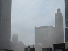 2019 Sunday Morning Hazy Smoke from Fire in Times Square 8800 (Brechtbug) Tags: 2019 sunday morning hazy smoke from fire times square virtual clock tower turned off hells kitchen clinton near broadway nyc 05192019 new york city midtown manhattan spring springtime weather building dark low hanging cumulonimbus cumulus nimbus cloud hell s nemo southern view smells pretty bad