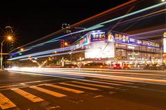 車軌 × 高雄五福商圈 (AJui_Photography) Tags: kaohsiung 高雄 taiwan 夜景 車軌 五福商圈 新堀江 新大統 城市光廊