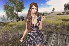 """I'm happiest walking through fields, on beaches, and over riverbanks. Nature is my surrogate mother."" (Trixie Pinelli) Tags: blueberry summer runawayhair ra salon52 dahlia lyrium equal10 maisondelamitie apparel fashion clothing shopping dress hair hairdressing hairstyle accessories jewellery pose animation mesh bento lumipro model modelling blogger blog photography photographer secondlife sl nature beach seaside ocean maitreya lelutka aida"