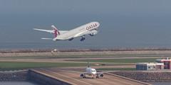 QATAR AIRWAYS CARGO B777-F A7-BFO 010 (A.S. Kevin N.V.M.M. Chung) Tags: aviation aircraft aeroplane airport airlines plane spotting boeing b777 b777f mfm macauinternationalairport qatar cargo runway takeoff