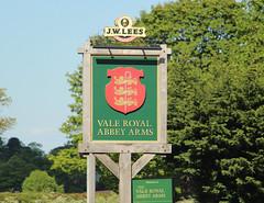 English Pub Sign - the Vale Royal Abbey, Cheshire (big_jeff_leo) Tags: england english sign pubsign publichouse pub street