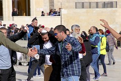 Celebration (oxfordblues84) Tags: oat overseasadventuretravel israel jerusalemisrael jerusalem religioussite touristattraction man men israelis israeli guy guys jews jewishman jewishmen people person westernwallplaza thewesternwallplaza bachelorparty