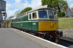 "Main Line Certified British Railways Green Liveried Class 33/0, D6515 ""Lt Jenny Lewis RN"" (37190 ""Dalzell"") Tags: br britishrailways green birminghamrailwaycarriagewagonco brcwco sulzer crompton class33 class330 d6515 ltjennylewisrn 33012 swanagerailway dieselgala swanage"