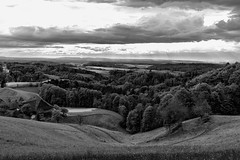 (Role Bigler) Tags: bw canon canoneos5dsr ef35mm12isusm ef35mm20usmis emmental hills landschaft natur schwarzweiss schweiz spring suisse switzerland blackwhite blackandwhite clouds farmhouse forest frühling grassland landscape meadow nature overlook overview silverefexpro2 silverevexpro2 trees wald wood