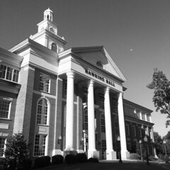 Hawkins Hall Troy University (ArchaeoSmith) Tags: school education moon photography mobile 2016 iphone6s uncool cool alabama troyuniversity architecture