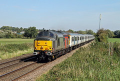 37884 Narborough (CD Sansome) Tags: 37 europhoenix 37884 rog rail operations group 319 319432 319426 thameslink great northern govia gtr tsgn railway 5v94 long marston bedford cauldwell depot narborough