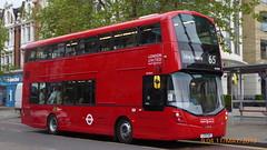P1160406 VH45317 LF19 FWH at New Broadway Uxbridge Road Ealing Broadway London (LJ61 GXN (was LK60 HPJ)) Tags: ratp londonunited volvob5lhybrid wrightbusgemini3streetdeckstyle wrightbusgemini3 106m 10600mm vh45317 lf19fwh ar125