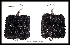 fekete kocka gyöngy fulbevalo juliacarina (JuliaCarina Design) Tags: black earrings julia carina design shop budapest jewelery accessories bizsu ékszer fekete fülbevaló füli goth rockabilly rock jeweller