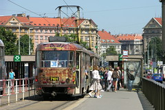 2010-06-17 Praha Tramway Nr.7101 (beranekp) Tags: czech praha prague prag tramvaj tram tramway tranvia strassenbahn šalina elektrika električka tatra t3 7101