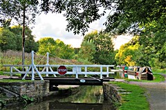 Carr Swing Bridge & The Peak Forest Canal, Furness Vale, Peak District (HighPeak92) Tags: bridges swingbridges carrswingbridge canals peakforestcanal furnessvale peakdistrict derbyshire canonpowershotsx700hs