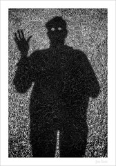 Selfie with Dandelion (peter.haendel) Tags: canon5d3 canon241054lii germany bielefeld blackandwhite schwarzweiss photoart fotokunst selfie löwenzahn dandelion