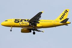 N502NK - Spirit A319 (AndrewC75) Tags: aircraft airplane aviation airport atl atlanta hartsfield jackson international airliner airbus spirit yellow a319