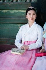 Beautiful girl in traditional korean costume hanbok (kitsunekuma) Tags: fujifilm xpro1 classic chrome hanbuk korea korean seoul temple shrine palace gyeonbokgung beautiful dress asian asia girl traditional xf 35mm f2 50mm street photography
