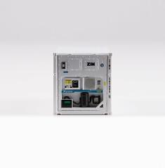 🚛 Kombimodell 20' 22R1 ZIMU5614865 front (ZIM) (msslovi0) Tags: container 187 h0 ho kombimodell 22r1 zim klv kv ukv intermodal reefer refrigerator coolingunit