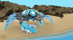 Tide's Blessing (A Plastic Infinity) Tags: timeforcrab crab lego moc collab ocean shore beach water sea sand crustacean