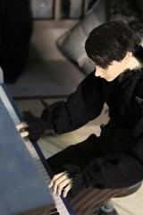 Music (Tatterpunk) Tags: vincent darling vincentgeareye balljointeddoll dollshe arsene dollshecraft craft bjd ball jointed doll fashion 45 cm msd piano bjdpiano musician
