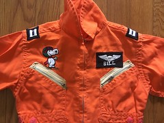 Flight Suit from Barrons (giveawayboy) Tags: flightsuit snoopy barrons redbaron orange zippers