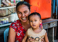 2019 - Cambodia - Sihanoukville - Tumnuk Rolok (Ted's photos - Returns late November) Tags: 2019 cambodia cropped nikon nikond750 nikonfx tedmcgrath tedsphotos vignetting pose posing ក្រុងព្រះសីហនុ mother teeth dents woman smile smiling lady old elderly sihanoukville