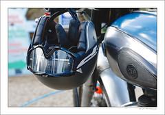 A charming gesture (G. Postlethwaite esq.) Tags: ajs dof derbyshire heage unlimitedphotos bokeh classicbikes crashhelmet depthoffield gloves motorbike motorcycle photoborder selectivefocus windmill