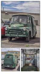 Dodge Mail Van (NoJuan) Tags: dodge dodgetruck fageol fageolpostalvan triptych microfourthirds micro43 mirrorless collage