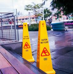 Caution (Thanathip Moolvong) Tags: kodak portra 160 rolleicord 75mm f35 film medium format 6x6 singapore