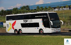 Toptur (RV Photos) Tags: bus onibus doubledecker turismo br116 rodoviapresidentedutra marcopolo marcopologv paradisogv1800dd toptur volvob12r