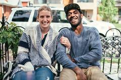 Michelle and Jean P (M///S///H) Tags: 35mm jp jeanpierrepopovi lenstagger michellepopovoi co colorado denver friends kaospizza kaospizzeria nivanuatu pearlstreet portrait zeisscy zeisscy35mmf14