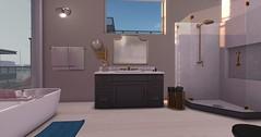 Luna Sea, Windlass Houseboat - Bathroom (Added) (Sivyaleah (Elora)) Tags: second life sl virtual home bellisseria linden houseboat house boat bathroom windlass