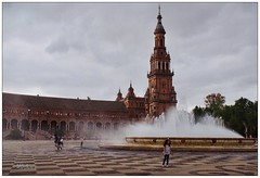 Caricia mojada (mariadoloresacero) Tags: plaza de spain espagne españa sevilla