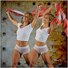 REMY AYLA V0 (REMYRO) Tags: light color design calm graphic concept illustration art style femme beauty beauté femmes envol surréaliste couleur jeu double voile sport joie cadre textures