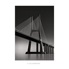 Vasco da Gama No2 (les forrester) Tags: scapes landscape seascape cityscape urban blackandwhite monochrome fineart bridge vascodagama longexposure cansoninfinity formatthitec filters leica leicauk leicasl
