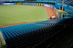 (edwardlepine) Tags: toronto bluejays rogerscentre skydome baseball mlb americanleague empty groundscrew ontario canada film analog yashica t4 flickr 35mm 2018 yankees