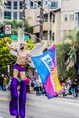 Purple Smirnoff Stilts (darthweef) Tags: pride pride2019 longbeachpride longbeach