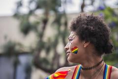 Rainbow Lady Looking Away (darthweef) Tags: pride pride2019 longbeachpride longbeach