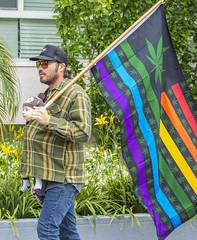 Weed Flag and Quatto Baby (darthweef) Tags: pride pride2019 longbeachpride longbeach